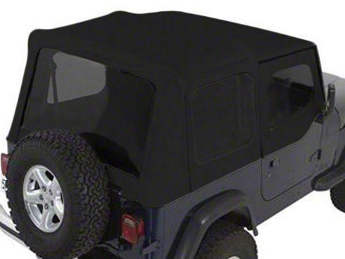 Rugged Ridge XHD Soft Top w/ Tinted Windows & Door Skins - Black Denim (88-95 Jeep Wrangler YJ w/ Factory Soft Top)