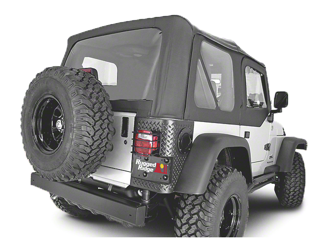 Rugged Ridge XHD Replacement Soft Top with Tinted Windows and Door Skins; Black Denim (97-02 Jeep Wrangler TJ)