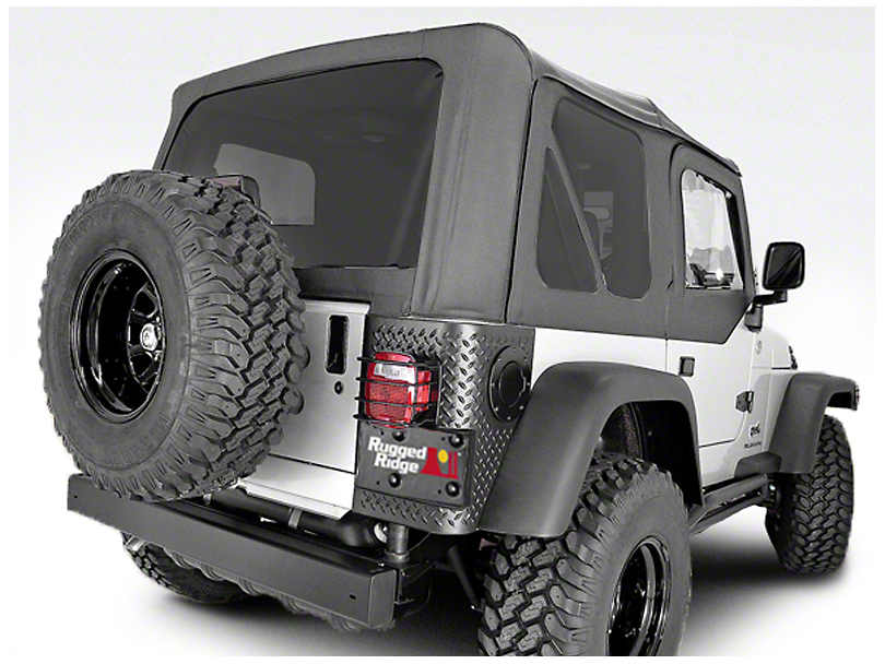 Rugged Ridge XHD Replacement Soft Top w/ Tinted Windows & Door Skins - Black Diamond (97-06 Jeep Wrangler TJ w/ Factory Soft Top, Excluding Unlimited)
