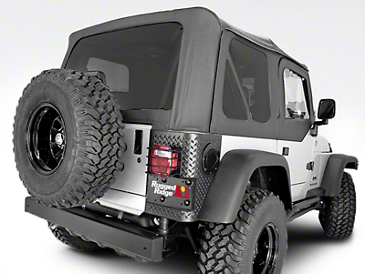 Rugged Ridge XHD Replacement Soft Top w/ Tinted Windows & Door Skins - Black Diamond (97-06 Wrangler TJ w/ Factory Soft Top)