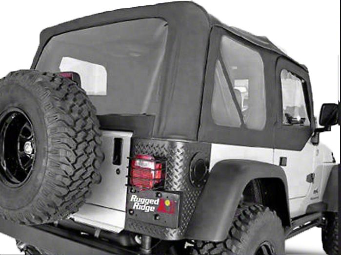 Rugged Ridge XHD Soft Top w/ Tinted Windows & Door Skins - Black Denim (97-02 Jeep Wrangler TJ w/ Factory Soft Top)