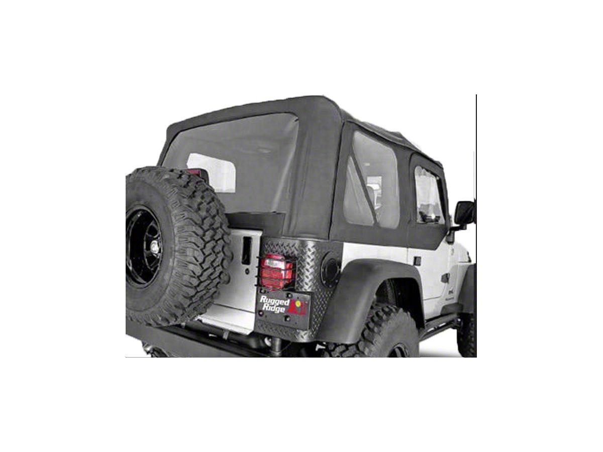 Black Diamond Jeep Wrangler Premium Replacement Soft Top TJ Without Upper Doors