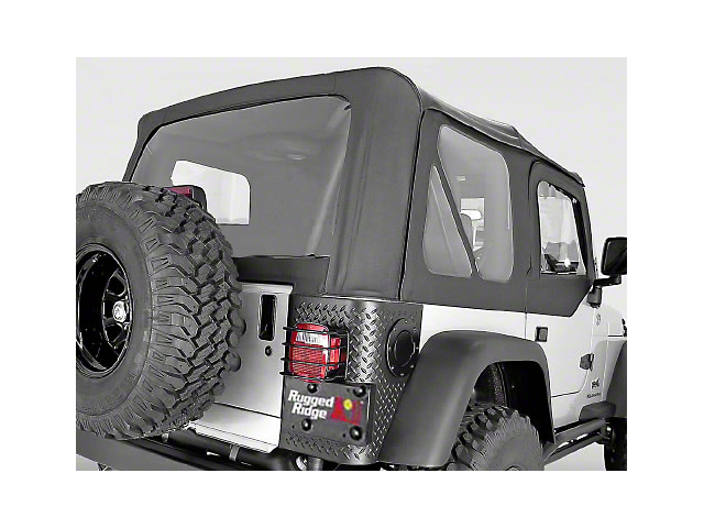 Rugged Ridge XHD Replacement Soft Top with Tinted Windows; Black Diamond (03-06 Jeep Wrangler TJ, Excluding Unlimited)