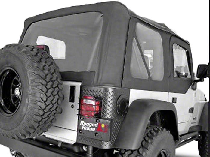 Rugged Ridge XHD Soft Top w/ Tinted Windows & No Door Skins - Black Denim (97-02 Jeep Wrangler TJ w/ Factory Soft Top)
