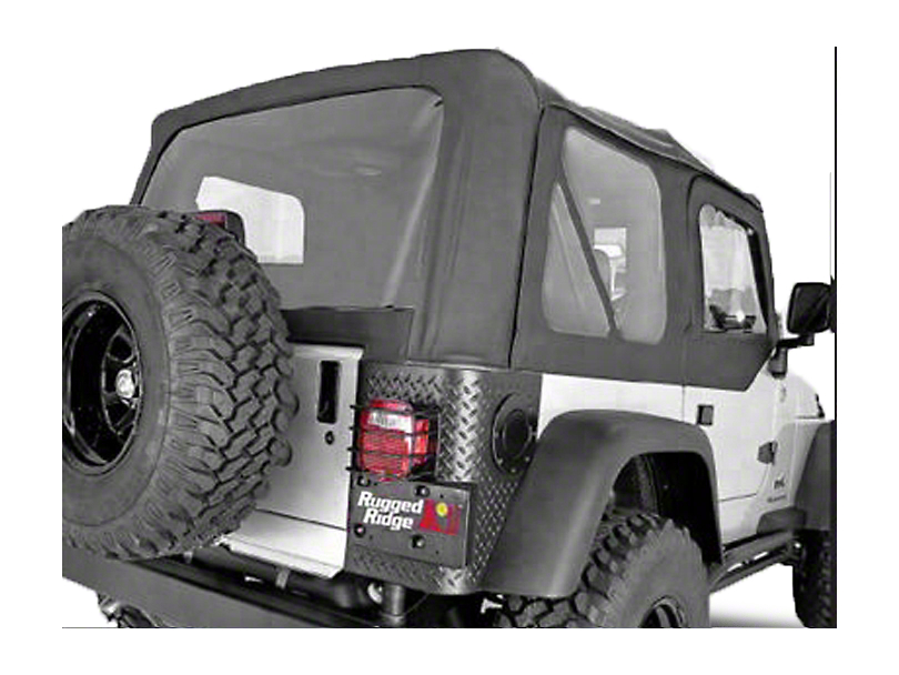 Rugged Ridge XHD Soft Top w/ Tinted Windows & No Door Skins - Black Diamond (03-06 Jeep Wrangler TJ w/ Factory Soft Top, Excluding Unlimited)