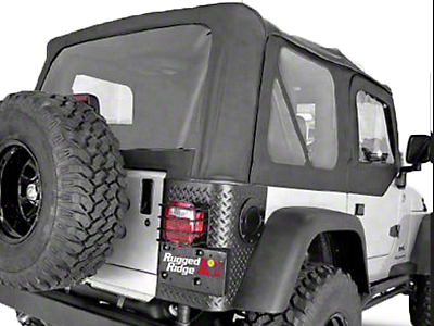 Rugged Ridge XHD Soft Top w/ Tinted Windows & No Door Skins - Black Denim (97-02 Jeep Wrangler TJ w/ Factory Soft Top)