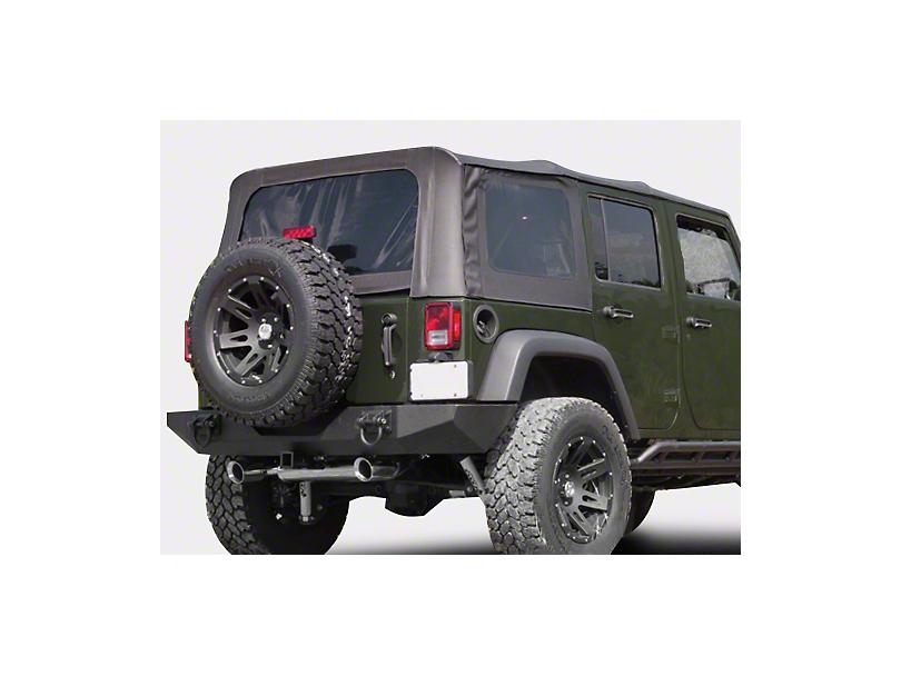 Rugged Ridge XHD Replacement Soft Top Sailcloth Black Diamond w/ Tinted Windows (07-09 Jeep Wrangler JK 4 Door)