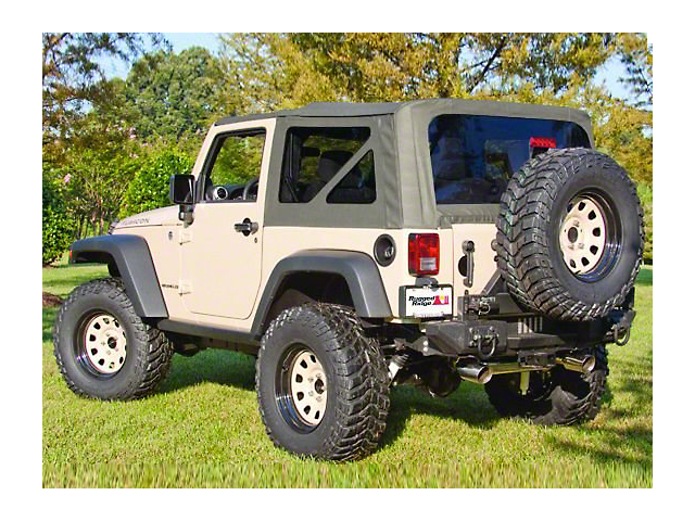 Rugged Ridge XHD Replacement Soft Top Sailcloth Black Diamond w/ Tinted Windows (07-09 Jeep Wrangler JK 2 Door)