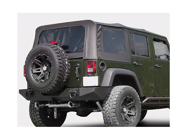 Rugged Ridge XHD Replacement Soft Top with Tinted Windows; Black Diamond (07-09 Jeep Wrangler JK 4 Door)