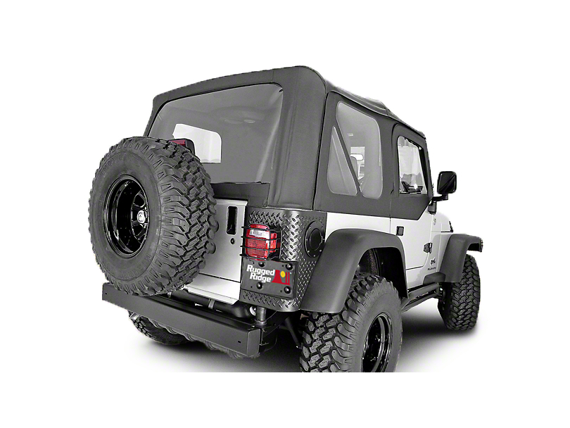 Rugged Ridge XHD Soft Top w/ Tinted Windows & No Door Skins - Black Diamond (04-06 Jeep Wrangler TJ Unlimited w/ Factory Soft Top)