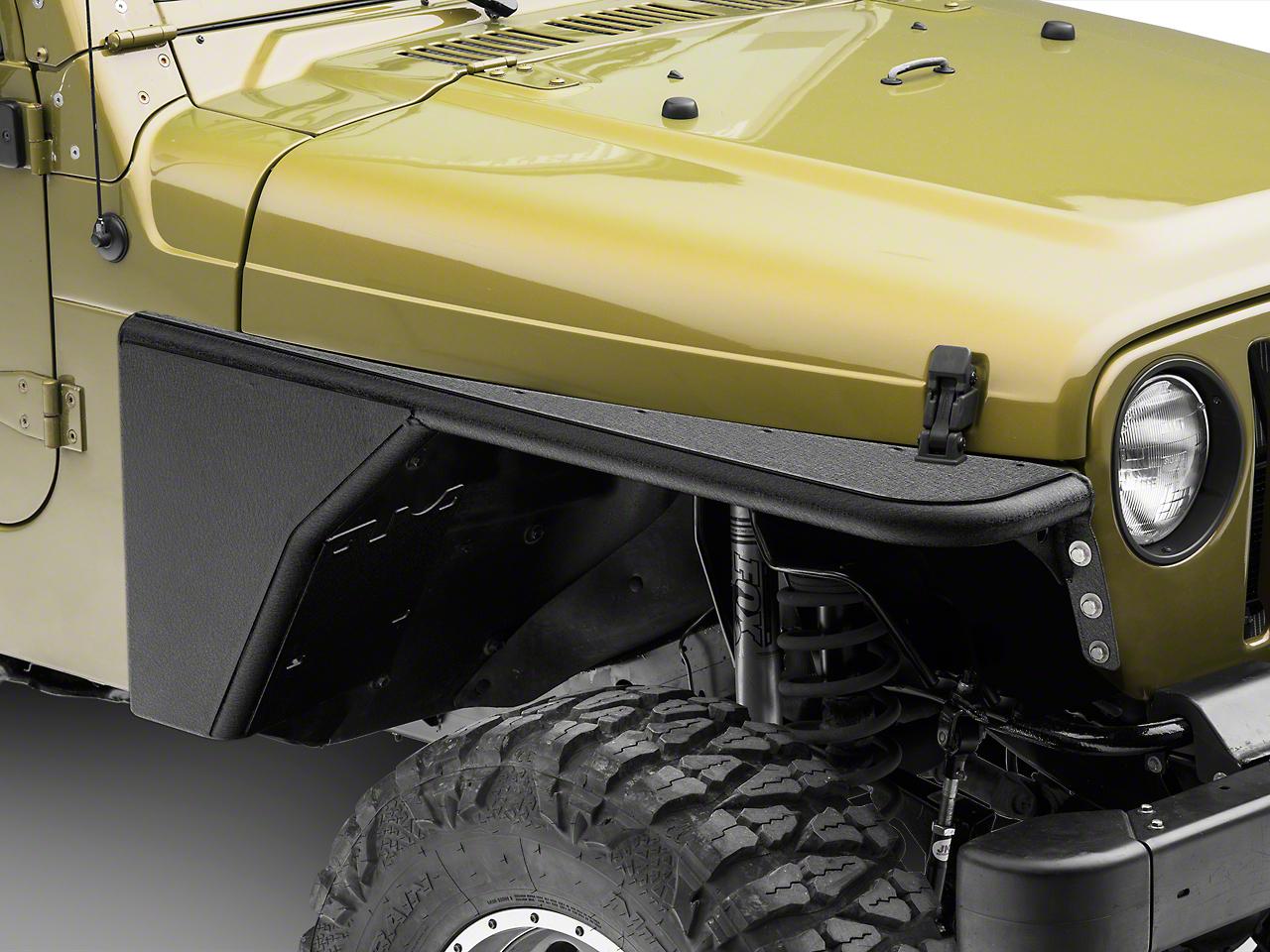 Smittybilt XRC Armor Front Tube Fenders (97-06 Wrangler TJ)