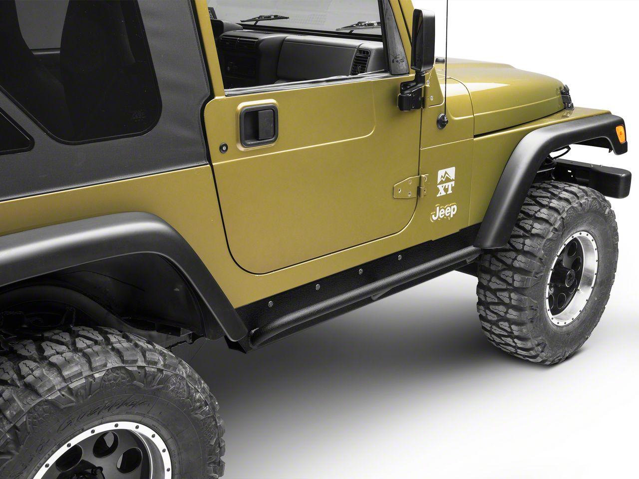 Smittybilt XRC Rock Sliders w/ Tube Step (97-06 Jeep Wrangler TJ, Excluding Unlimited)