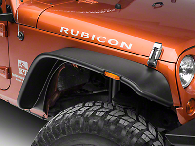 Bushwacker Flat Style Flare Kit, 4 Pieces (07-18 Wrangler JK 4 Door)