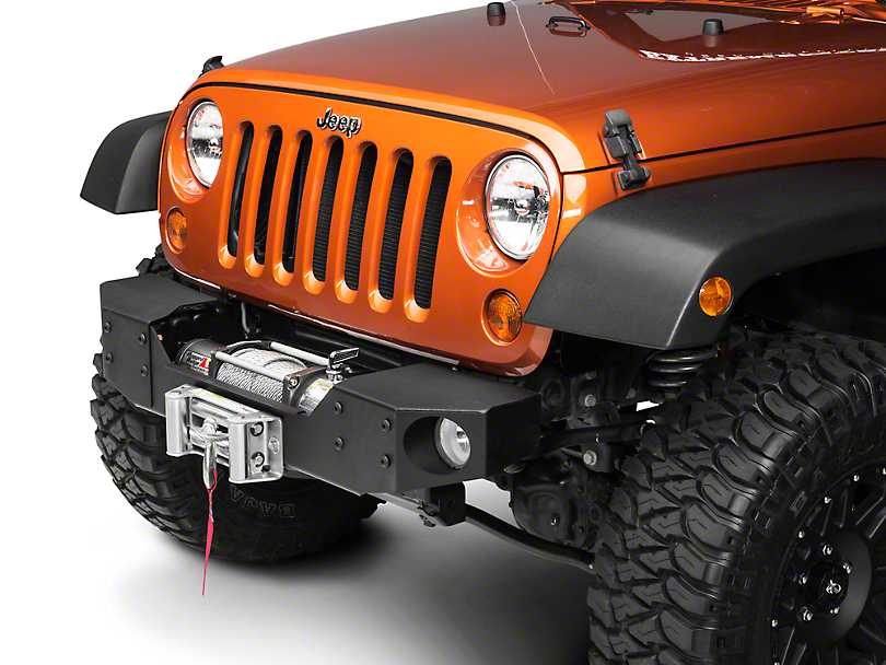 Rough Country Modular Front Winch Plate Bumper (07-18 Wrangler JK)