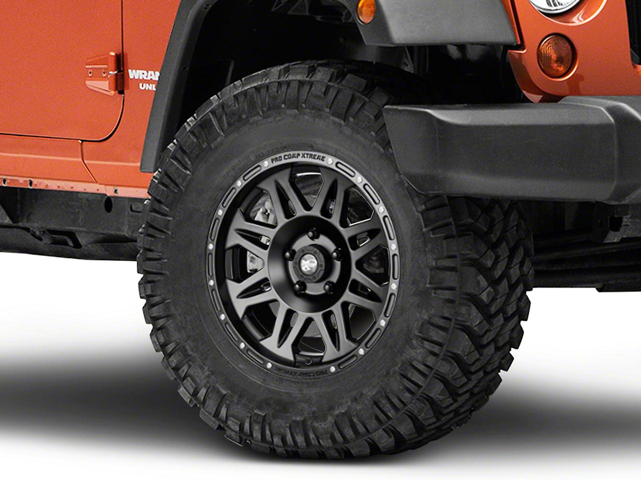 Pro Comp Alloy Series 7005 Flat Black Wheel - 17x8 (07-18 Jeep Wrangler JK; 2018 Jeep Wrangler JL)