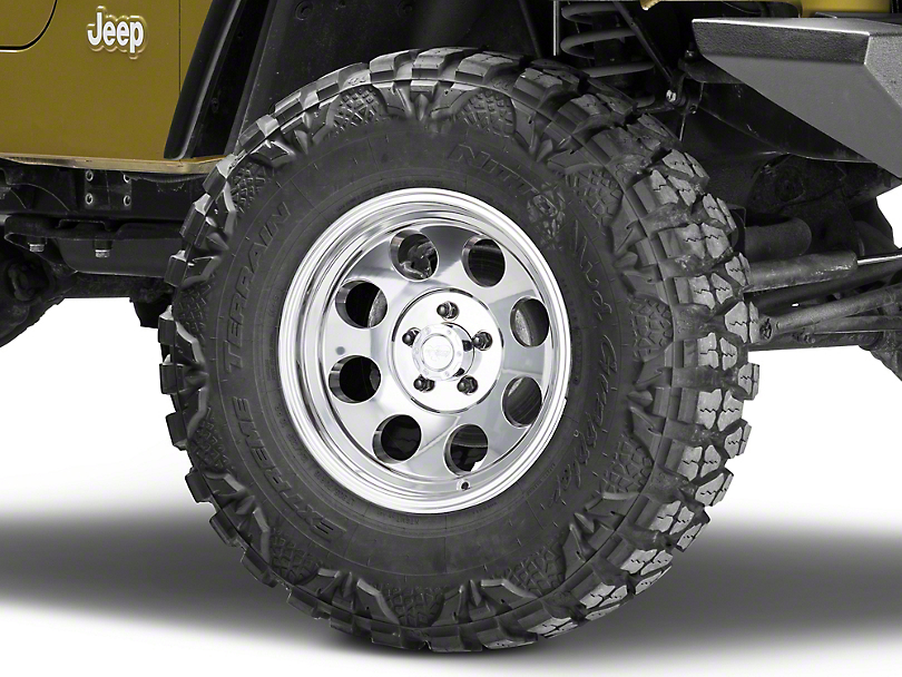 Pro Comp Wheels Series 1069 Polished Wheel - 16x8; -12mm Offset (87-06 Jeep Wrangler YJ & TJ)