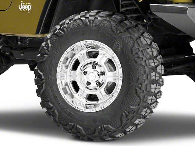Pro Comp Wheels Series 1089 Polished Wheel - 16x8 +00mm Offset (87-06 Jeep Wrangler YJ & TJ)