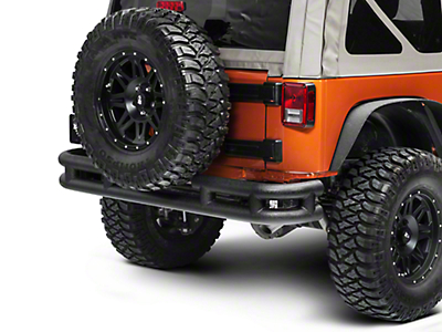 Smittybilt Tubular Rear Bumper w/o Hitch - Textured Black (07-18 Wrangler JK)