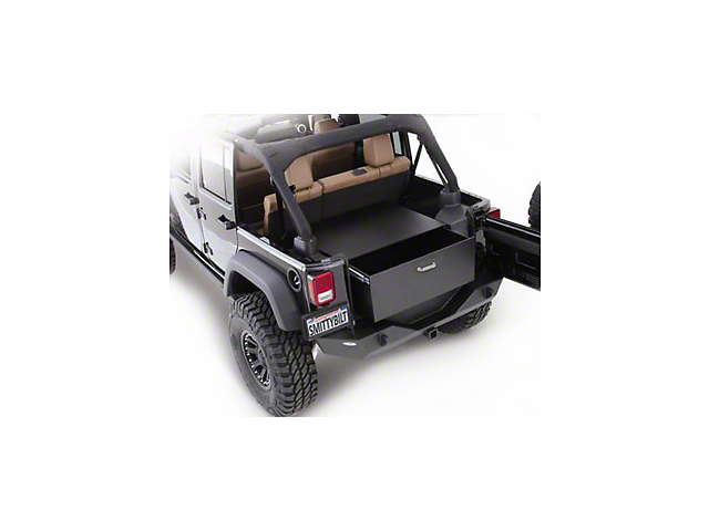 Smittybilt Security Storage Vault - Rear Lockable Storage Box (87-06 Jeep Wrangler YJ & TJ)