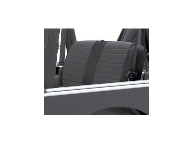 Smittybilt XRC Seat Cover - Rear - Black Sides/ Black Center (97-02 Jeep Wrangler TJ)