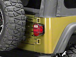 Smittybilt Euro Tail Light Guards; Black (87-06 Jeep Wrangler YJ & TJ)