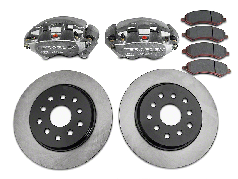 Teraflex Front Big Brake Kit w/ 13.3 in. Vented Rotors (07-18 Jeep Wrangler JK)