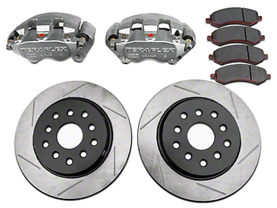 Teraflex Front Big Brake Kit w/ 13.3 in. Vented Slotted Rotors (07-18 Wrangler JK)