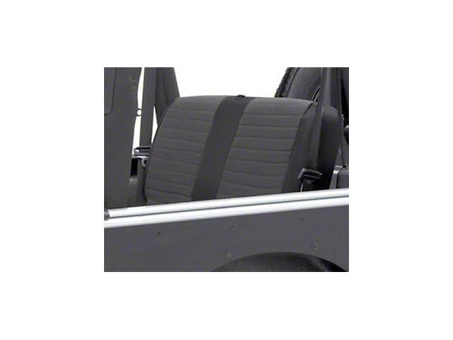 Smittybilt XRC Seat Cover - Rear - Black Sides/ Black Center (03-06 Jeep Wrangler TJ)