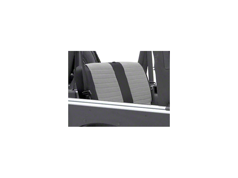 Smittybilt XRC Seat Cover - Rear - Black Sides/ Gray Center (2007 Jeep Wrangler JK 4 Door)