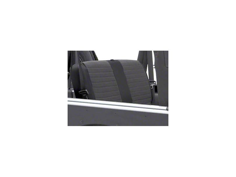 Smittybilt XRC Rear Seat Cover; Black (2007 Jeep Wrangler JK 4 Door)