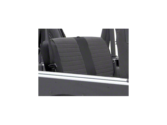 Smittybilt XRC Rear Seat Cover; Black (2007 Jeep Wrangler JK 4 Door)