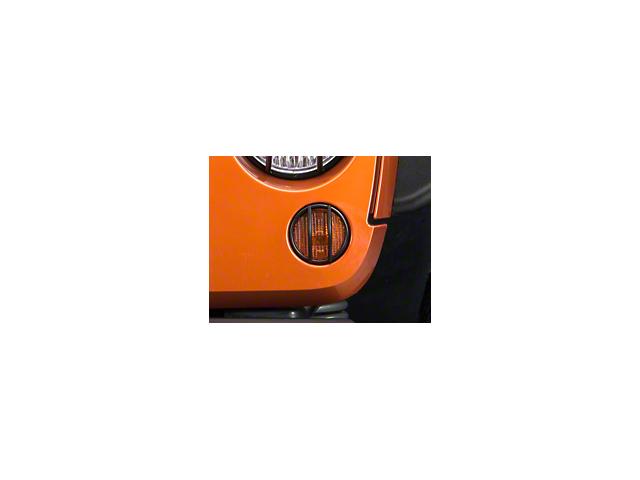 Smittybilt Euro Turn Signal Light Guards - Black (07-18 Jeep Wrangler JK)