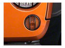 Smittybilt Euro Turn Signal Guards - Black - 2 Piece (07-18 Jeep Wrangler JK)
