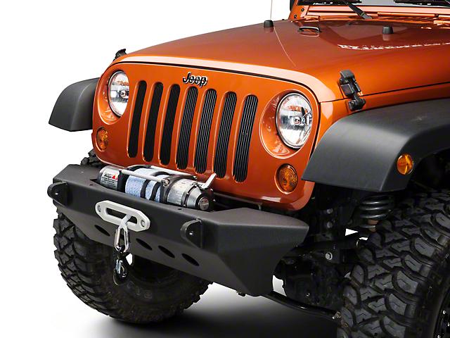 Smittybilt SRC Classic Front Bumper w/ Winch Plate - Textured Black (07-18 Jeep Wrangler JK)