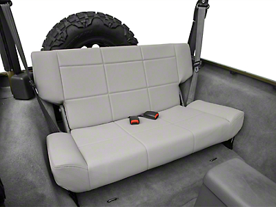 Smittybilt Vinyl Fold & Tumble Rear Seat - Denim Gray (97-06 Jeep Wrangler TJ)