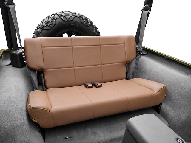 Smittybilt Vinyl Fold and Tumble Rear Seat; Denim Spice (97-06 Jeep Wrangler TJ)