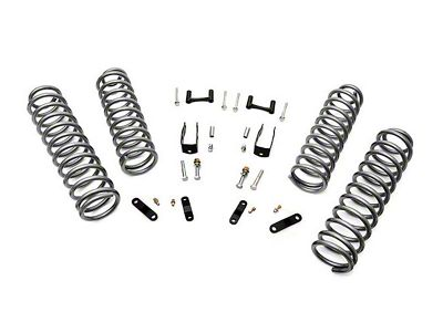 Rough Country 2.5 in. Suspension Lift w/ Coils & Brackets w/o Shocks (07-18 Jeep Wrangler JK 2 Door)