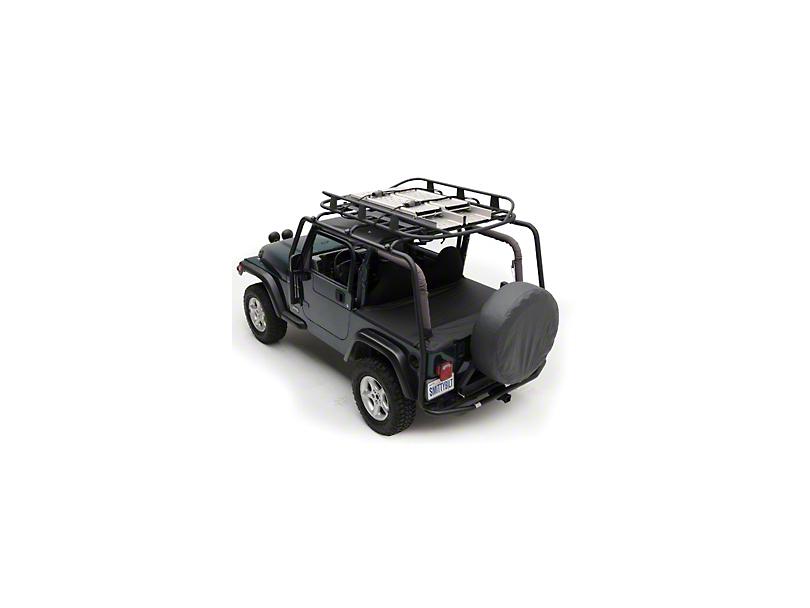 Smittybilt SRC Roof Rack - 300 lb Rating - Black Textured (04-06 Jeep Wrangler TJ Unlimited)
