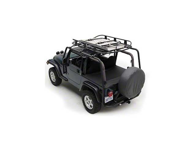 Smittybilt SRC Roof Rack; Textured Black (04-06 Jeep Wrangler TJ Unlimited)