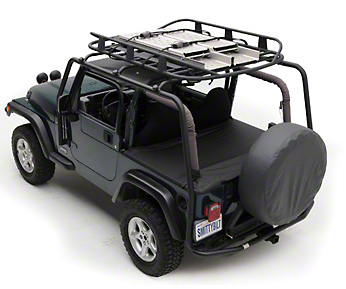 Smittybilt SRC Roof Rack - 300 lb Rating - Black Textured (04-06 Wrangler TJ Unlimited)