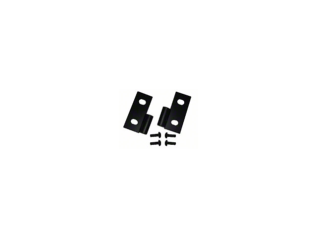 Smittybilt Lower Door Hinge Brackets - Black (87-06 Jeep Wrangler YJ & TJ)