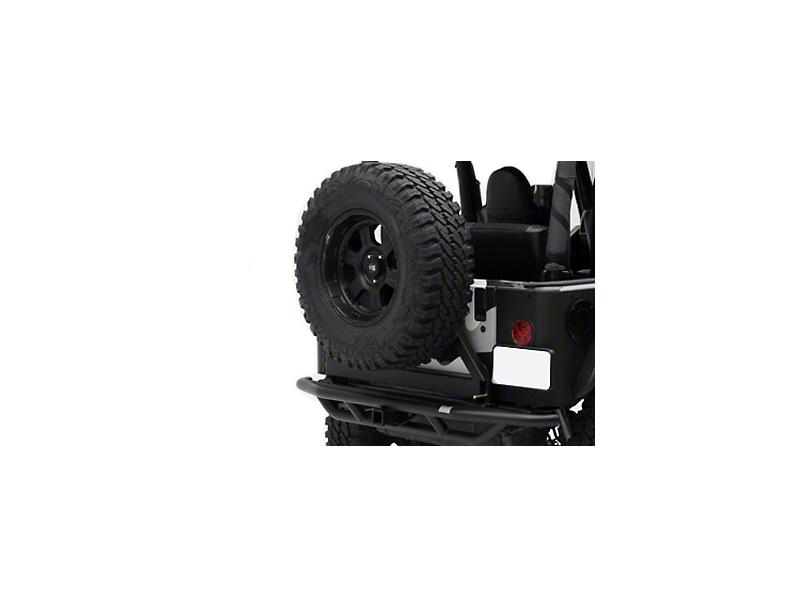 Smittybilt SRC Rear Bumper w/ Hitch - Textured Black (87-06 Jeep Wrangler YJ & TJ)