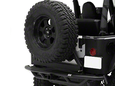 Smittybilt SRC Rear Bumper w/ Hitch - Textured Black (87-06 Jeep Wrangler YJ & TJ)