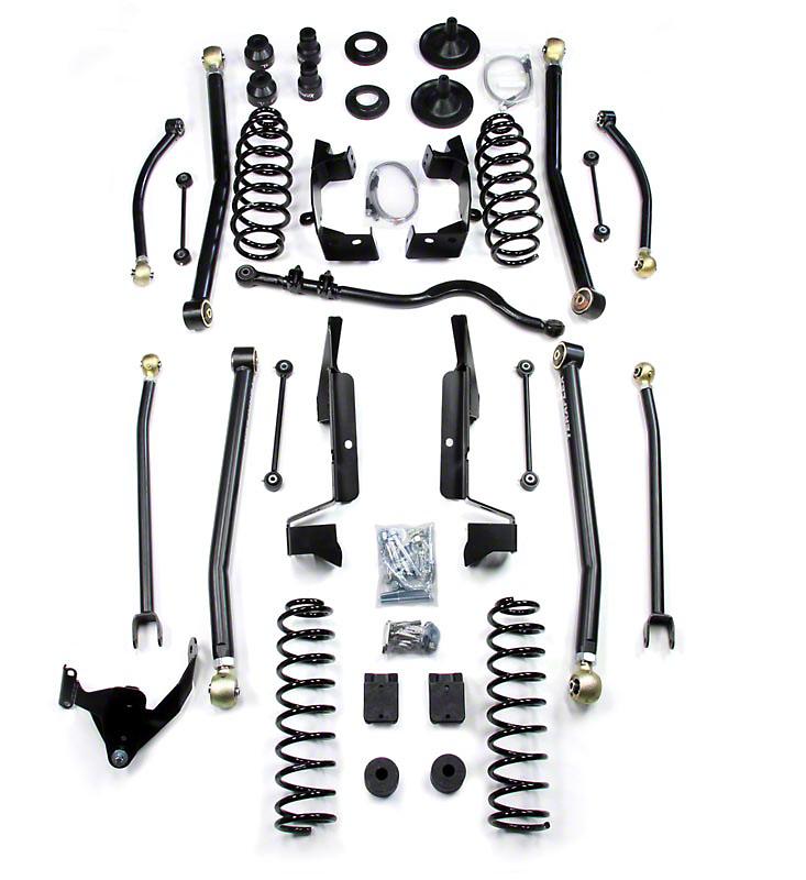 Teraflex 4 in. Elite LCG Long Arm Suspension System w/SpeedBumps w/o Shocks (07-18 Wrangler JK 4 Door)