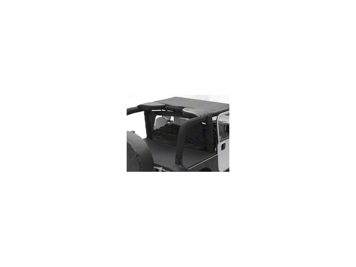 Smittybilt Jeep Wrangler Tonneau Cover Black Diamond 761335 07 18 Jeep Wrangler Jk 4 Door