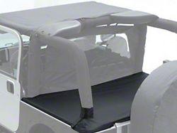Smittybilt Tonneau Cover for OEM Soft Top w/ Channel Mount - Denim Black (87-91 Jeep Wrangler YJ)