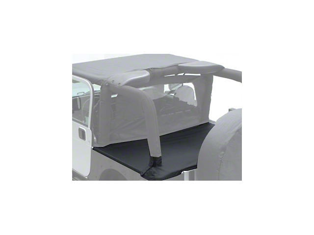 Smittybilt Tonneau Cover for OEM Soft Top with Channel Mount; Black Diamond (97-06 Jeep Wrangler TJ, Excluding Unlimited)