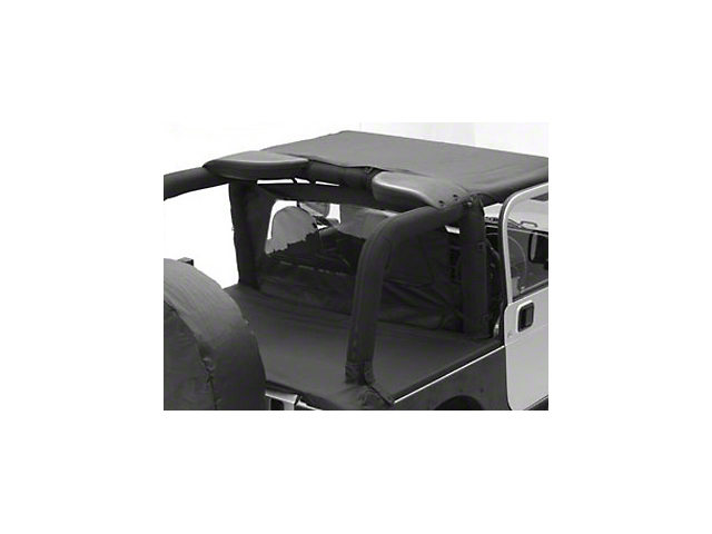 Smittybilt Tonneau Cover - Black Diamond (07-18 Jeep Wrangler JK 2 Door)