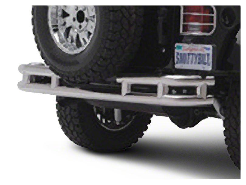 Smittybilt Tubular Rear Bumper w/o Hitch - Stainless Steel (87-06 Jeep Wrangler YJ & TJ)