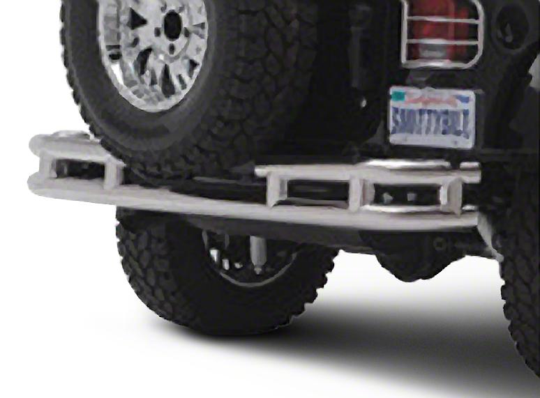Smittybilt Tubular Rear Bumper w/o Hitch - Stainless Steel (87-06 Wrangler YJ & TJ)